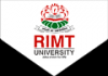 RIMT University (RIMTU), Admission Open 2018